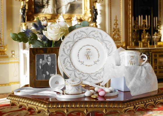 decoracao do casamento de kate middleton : decoracao do casamento de kate middleton:-de-porcelana-comemorativa-do-casamento-do-principe-william-com-kate
