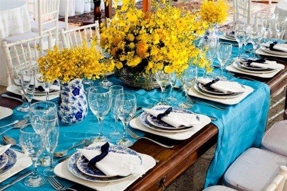 decoracao casamento azul turquesa e amarelo : decoracao casamento azul turquesa e amarelo:Decoração de Casamento Marrom – Internovias