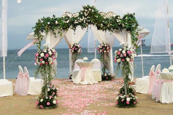 Decoraç u00e3o de Casamento na Praia Blog Internovias -> Decoração De Casamento Na Praia