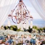 Lustres na Decoração de Casamento