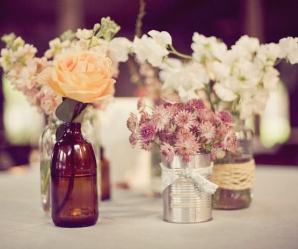centro de mesa garrafa diversos