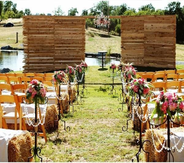 decoração de casamento rústica chic