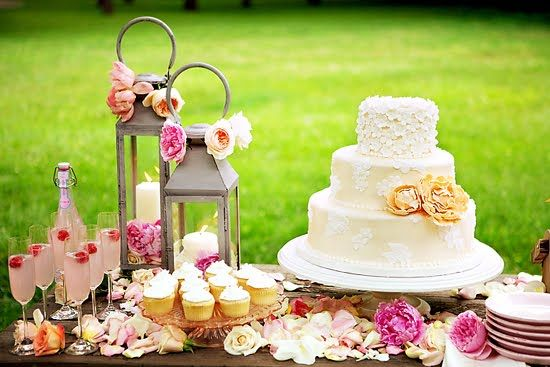 beautiful wedding cake tables casamento vintage pela manh 227 internovias 11233