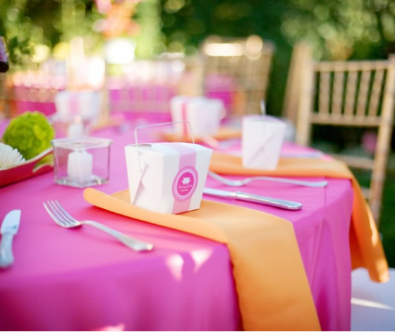 Decoração de Casamento Rosa e Laranja