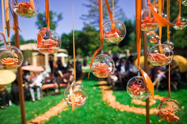 Objetos para decoração de casamento