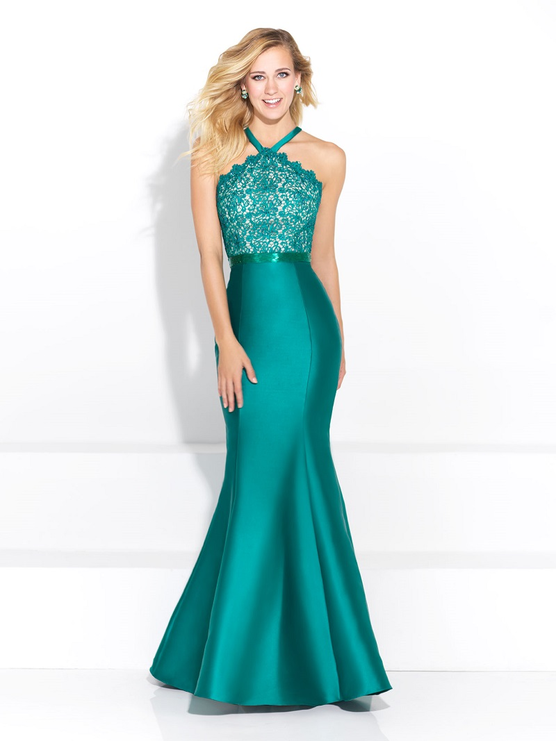 Vestido de festa cor verde agua