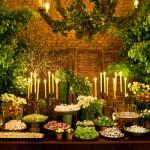 Decoração de Casamento com Folhas Verdes
