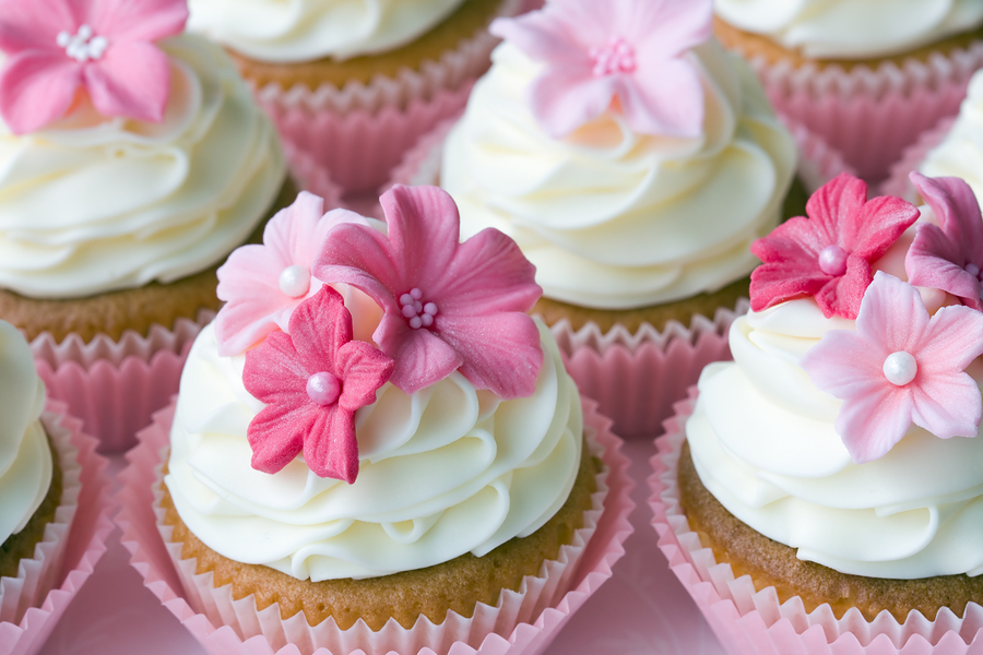 Lindos Cupcakes nos Casamentos