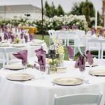 Arrumação das Mesas para o Casamento