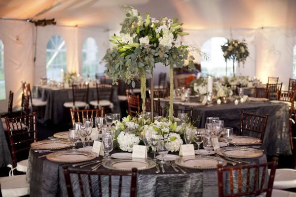 decoração de casamento prata