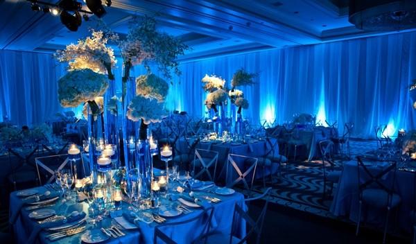 A Charmosa Decoração de Casamento Azul
