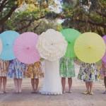 Decoração de Casamento com Sombrinhas