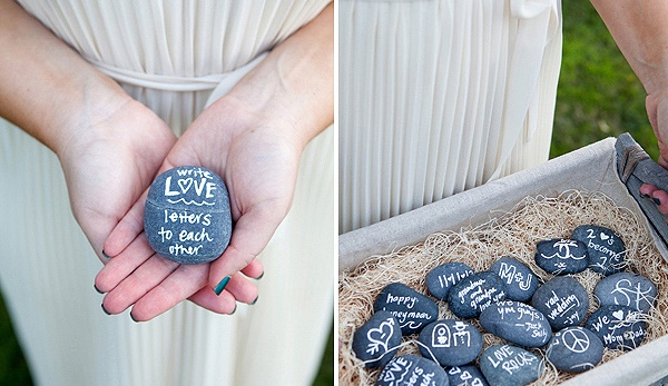 DIY Rock Guest Book Wedding