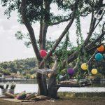 O Charme do casamento no lago