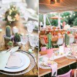 Cactos e suculentas na decoração do casamento