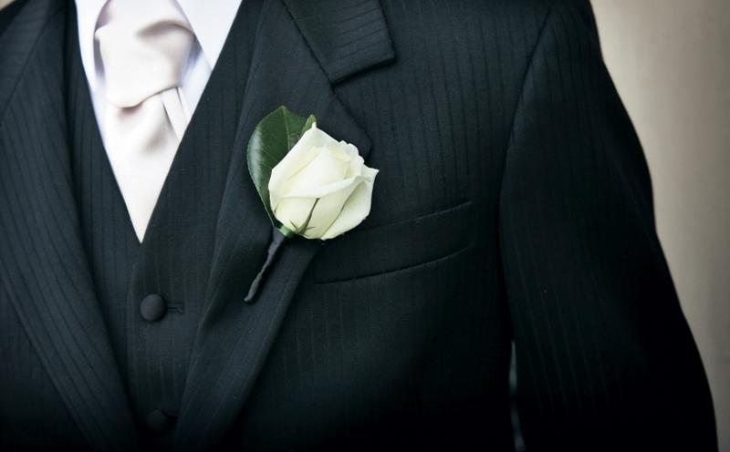 Flor de Lapela para o Noivo
