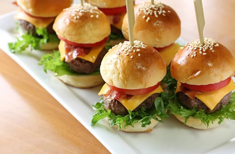 Hambúrguer Gourmet no Menu do Casamento