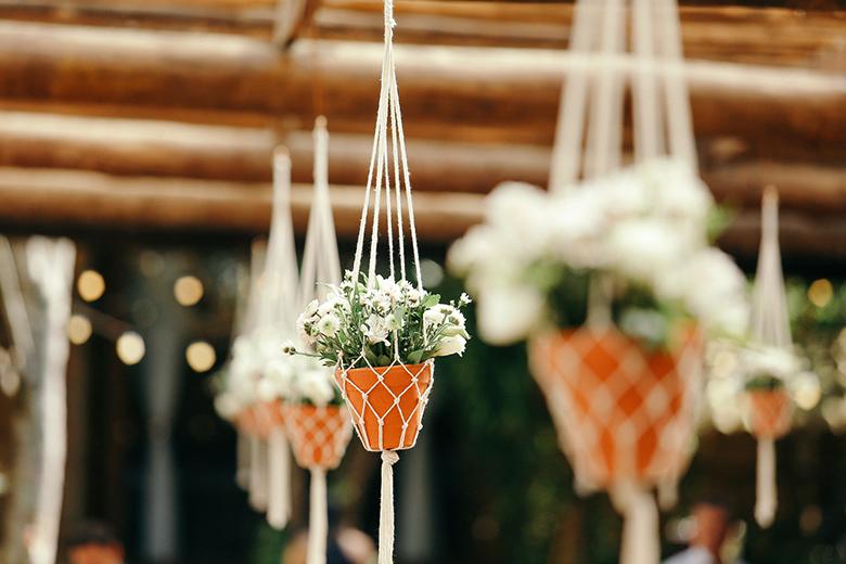 Macramê na decoração do casamento