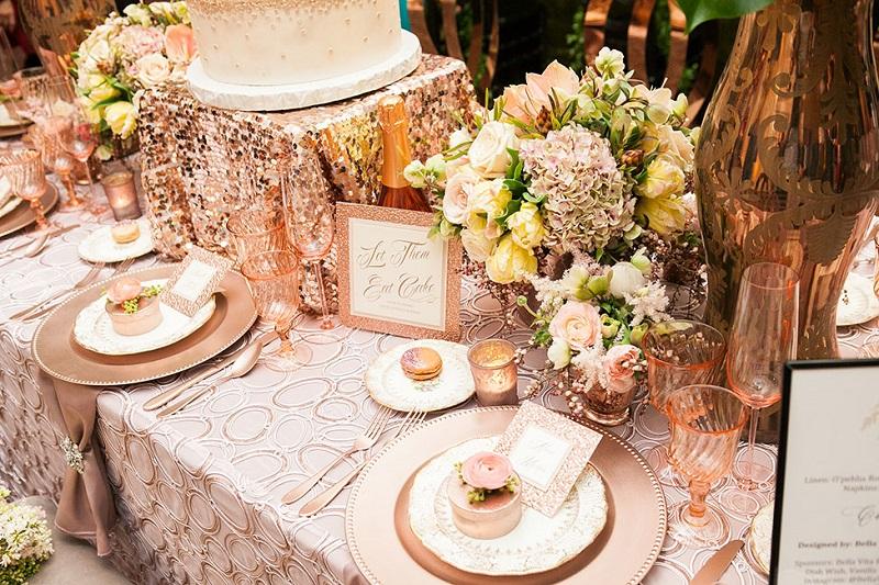 Rose Gold na decoração do casamento
