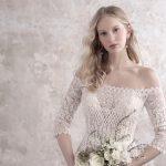 Vestido de noiva com decote ombro a ombro