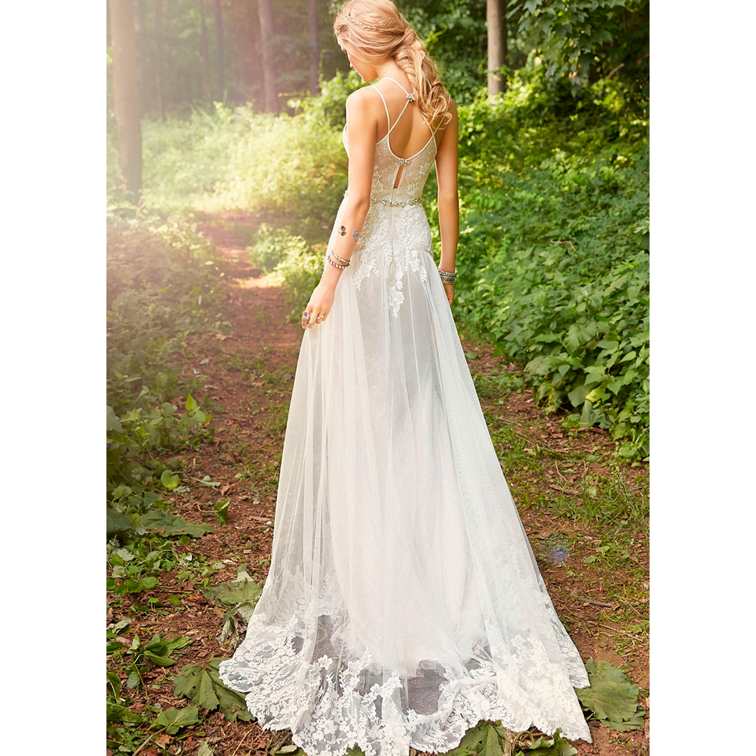 Vestido de noiva rústico, simples ou vintage