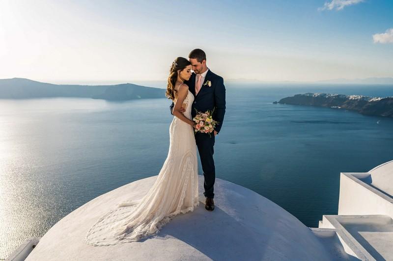 Elopement wedding em Santorini | Noiva Internovias Livia