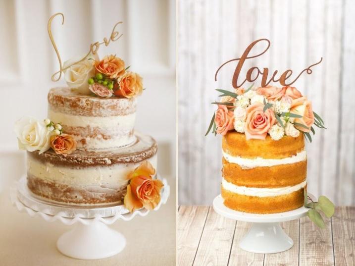 Inspiração de Naked Cake e Cake Topper