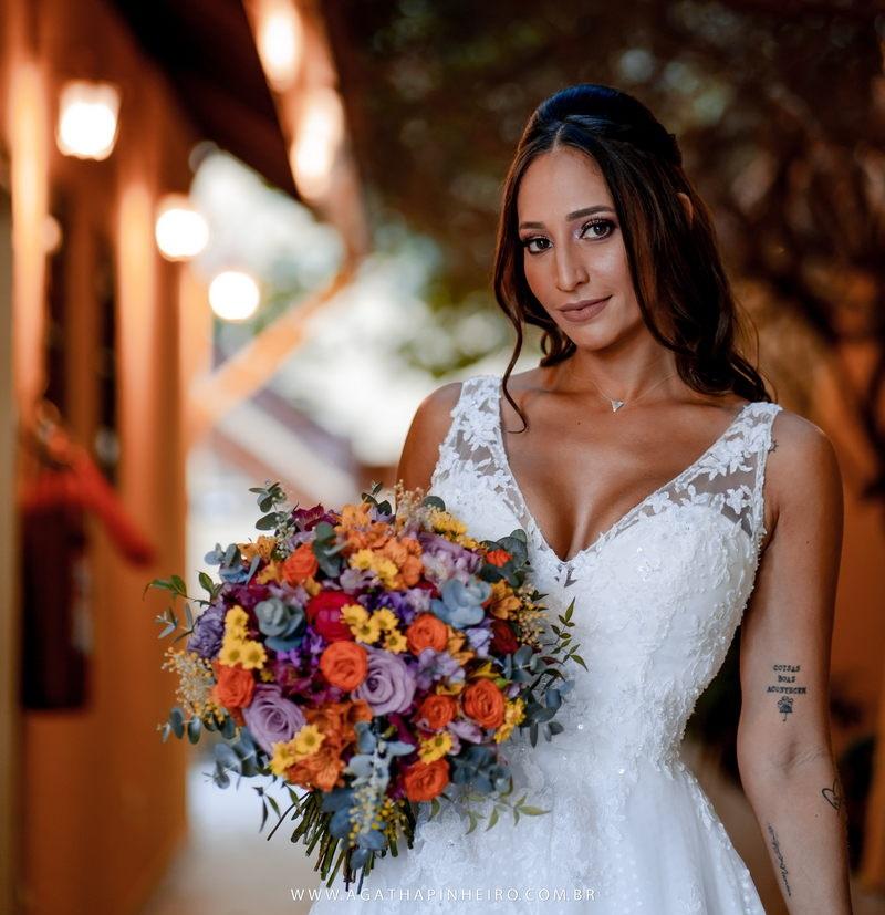 Casamento ao Ar Livre no Sítio Recanto de Mel | Noiva Internovias Anna