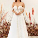 Vestido de noiva ombro a ombro: um charme para o grande dia
