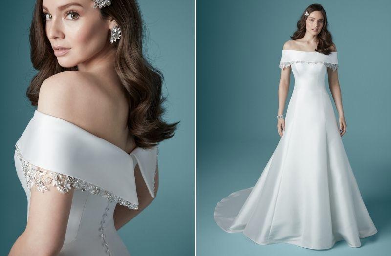 Vestido de noiva ombro a ombro